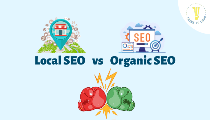 local seo vs organic seo by Think It Loud